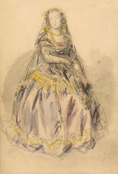 A. GEOFFROY (XIXe-XXe siècle).  Portrait...