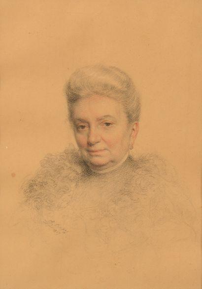 Léon Gérard CREPY (1872-?).    Portrait de...