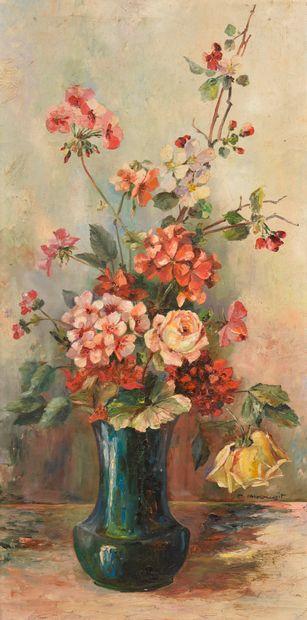 Marcel ABOUGIT (XXe siècle).    Bouquet de...