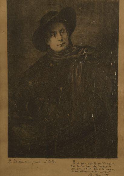 Marcellin DESBOUTINS (1823-1902).  Portrait...