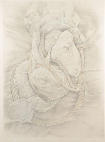 Cécile MÜHLSTEIN (1936-2007).  Tête endormie...