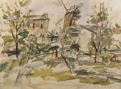 Gen PAUL (1895-1975).  Montmartre, le Moulin...