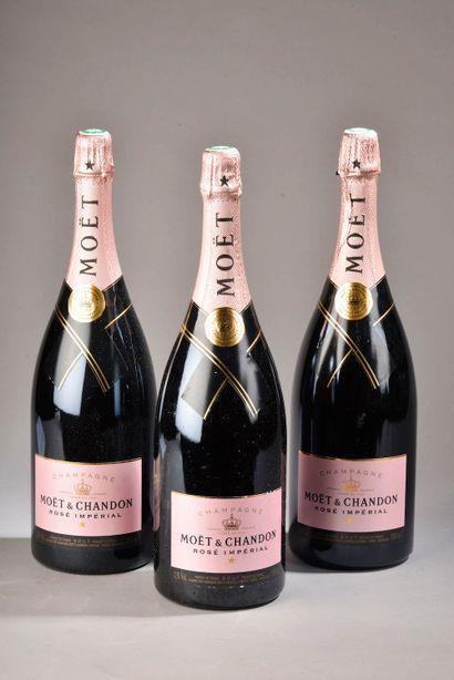 3 magnums CHAMPAGNE rosé, Moët Chandon