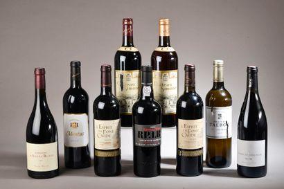 9 bouteilles VINS DIVERS (Esprit de Font...