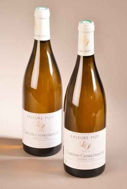 2 bouteilles CORTON CHARLEMAGNE, Laleure-Piot...