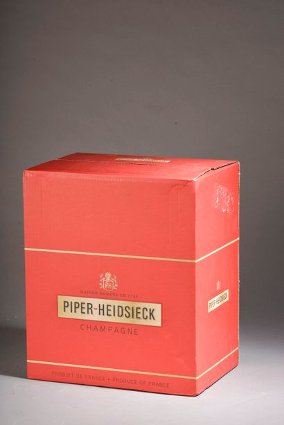 6 bouteilles CHAMPAGNE Piper-Heidsieck