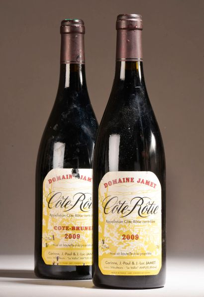 2 bouteilles CÔTE-RÔTIE Jamet 2009 (dont...