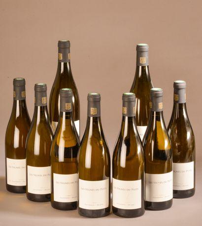 """9 bouteilles FAUGÈRES """"Les Vignes du Puits"""", JM VE Alquier 2016 (blanc)"""