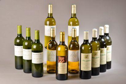 12 bouteilles VINS BLANCS DU SUD (Mas Jullien,...