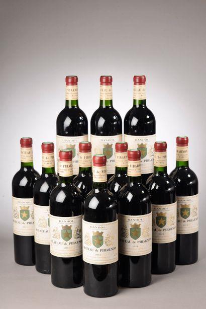 12 bouteilles BANDOL Château de Pibarnon 2014 (1 ela)