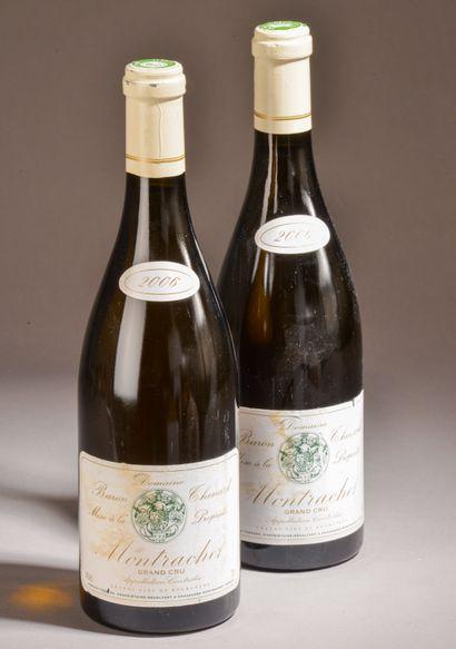 3 bouteilles MONTRACHET, Baron Thénard 2006...
