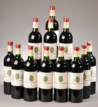 12 bouteilles BANDOL Château de Pibarnon 2015