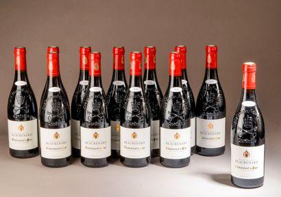 12 bouteilles CHÂTEAUNEUF-DU-PAPE Beaurenard...