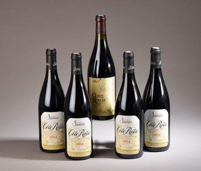 4 bouteilles CÔTE-RÔTIE Jamet 2014 (on joint...