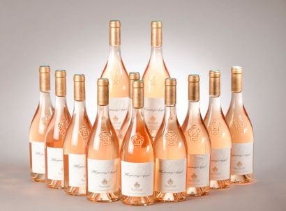 """12 bouteilles CÔTES DE PROVENCE """"Whispering Angel"""", Château d'Esclan 2018 (rosé..."""