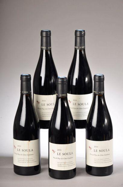"""5 bouteilles CÔTES CATALANES """"Terroir d'altitude"""", Le Soula 2010 (ela, elt)"""