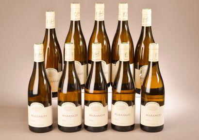 10 bouteilles MARANGES Domaine Chevrot 2016...