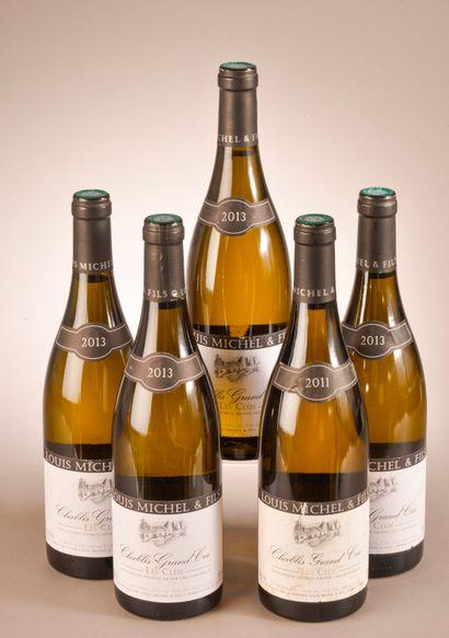 5 bouteilles CHABLIS