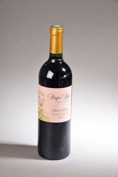 """1 bouteille COTEAUX DU LANGUEDOC """"Syrah Léone"""", Peyre-Rose 2005"""