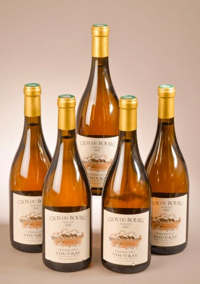 5 bouteilles VOUVRAY