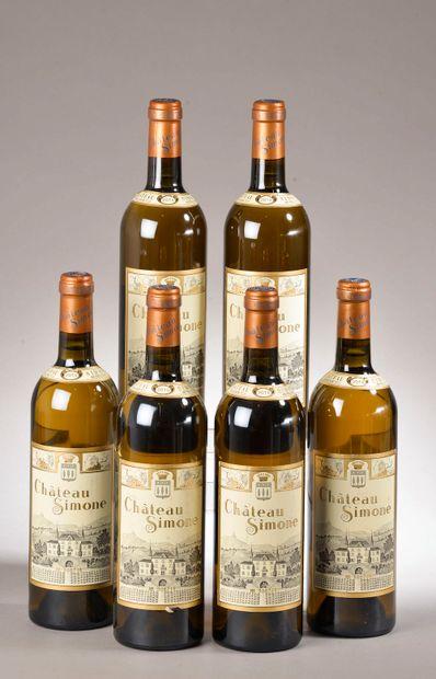 6 bouteilles PALETTE blanc, Château Simone...