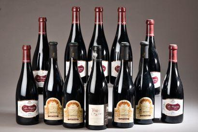 12 bouteilles LOIRE rouge, (1 Saumur-Champigny...
