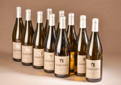 10 bouteilles COTEAUX DU CAP CORSE Pieretti 2017 (blanc)