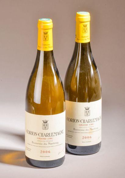 2 bouteilles CORTON CHARLEMAGNE, Bonneau...