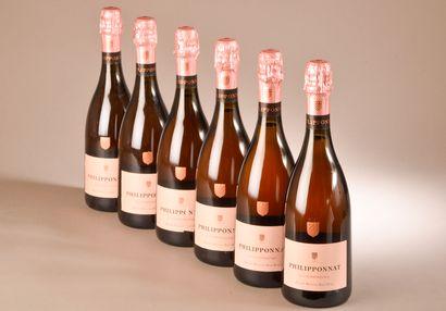 6 bouteilles CHAMPAGNE rosé, Philipponna...