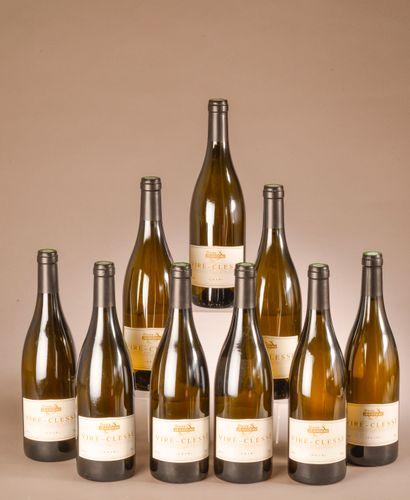 9 bouteilles VIRÉ-CLESSÉ D. Jeandeau 201...