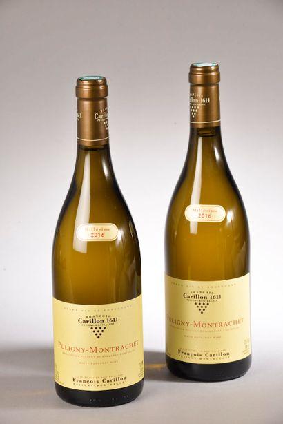 2 bouteilles PULIGNY-MONTRACHET F. Carillon...