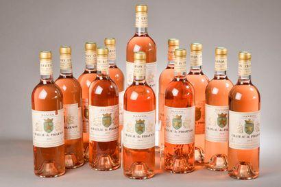 12 bouteilles BANDOL rosé, Château de Pibarnon 2018