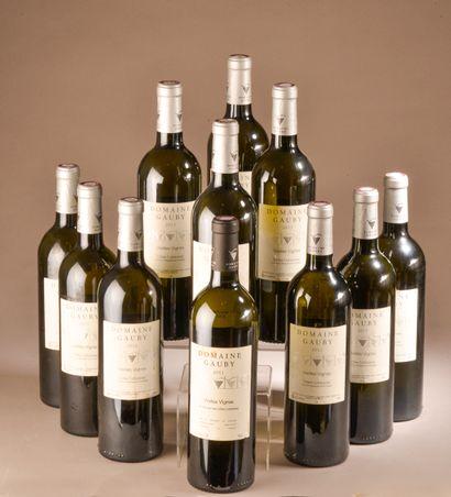 """11 bouteilles CÔTES CATALANES """"blanc V.V."""", Gauby 2013 (sauf 1 de 2011, et)"""
