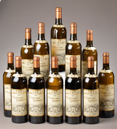 12 bouteilles PALETTE blanc, Château Simone...