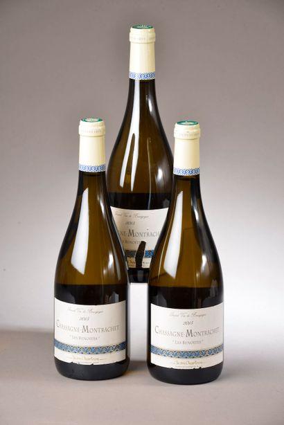 3 bouteilles CHASSAGNE-MONTRACHET