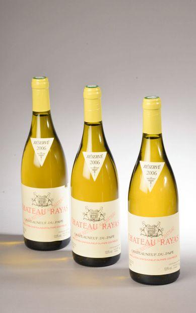 3 bouteilles CHÂTEAUNEUF-DU-PAPE blanc, Château...