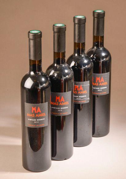 """4 bouteilles MAURY """"vintage réserve, parcelle Las Fredes"""", Mas Amiel 2012"""