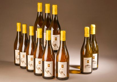 """9 bouteilles COTEAUX DU LAYON """"1896"""", P. Baudoin 2015 (sauf La Fresnaye)"""