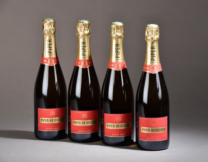 4 bouteilles CHAMPAGNE Piper-Heidsieck
