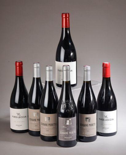 7 bouteilles VIN CORSE (3 Leccia e croce...