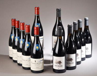 12 bouteilles VINS DU SUD (6 Maury Vieux...