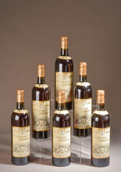 6 bouteilles PALETTE rosé, Château Simone...