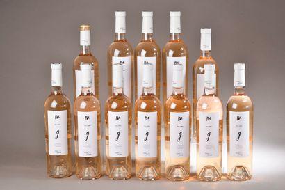 12 bouteilles CÔTES DE PROVENCE rosé, MG 2018 (1 capsule découpée)