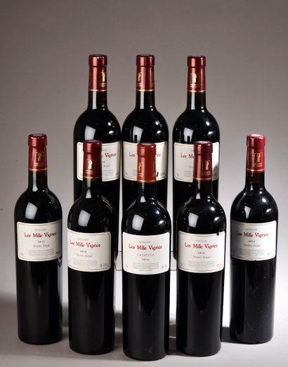 8 bouteilles FITOU Les Mille Vignes (2015,...