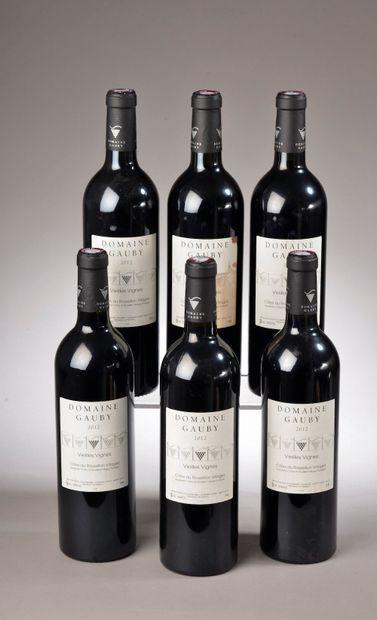 """6 bouteilles CÔTES DU ROUSSILLON """"V.V."""", Domaine Gauby 2012 (1 ett)"""