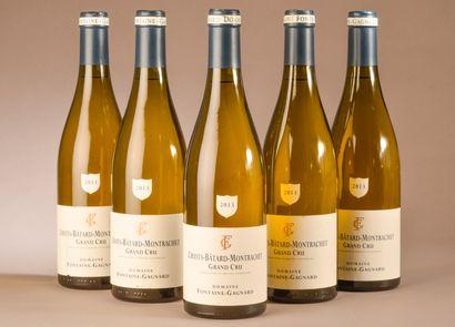 5 bouteilles CRIOTS-BÂTARD-MONTRACHET, Fontaine-Gagnard...
