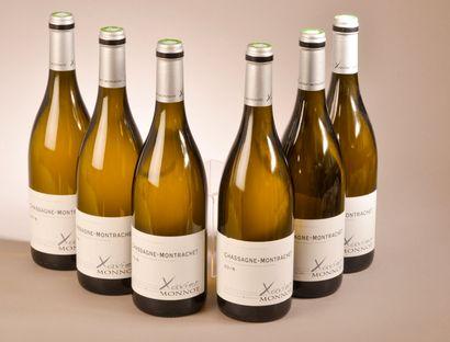 6 bouteilles CHASSAGNE-MONTRACHET X. Monnot...