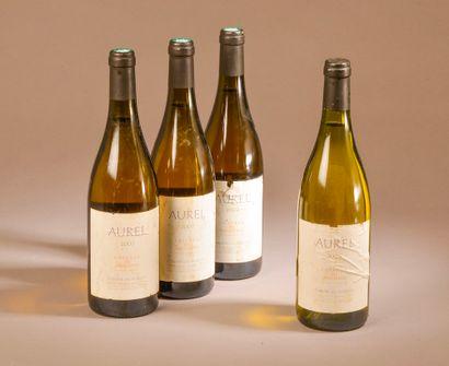 """4 bouteilles COTEAUX DU LANGUEDOC """"Aurel"""", Domaine Les Aurelles 2007 (ela, et, sauf..."""