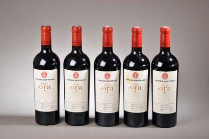 "5 bouteilles MINERVOIS ""Clos d'Ora"", G. Bertrand (1 de 2013, 2 de 2014, 2 de 20..."