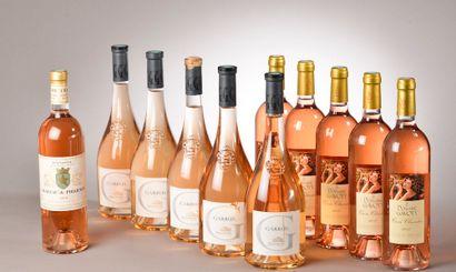 11 bouteilles ROSÉ DIVERS (5 Gavoty 2017,...